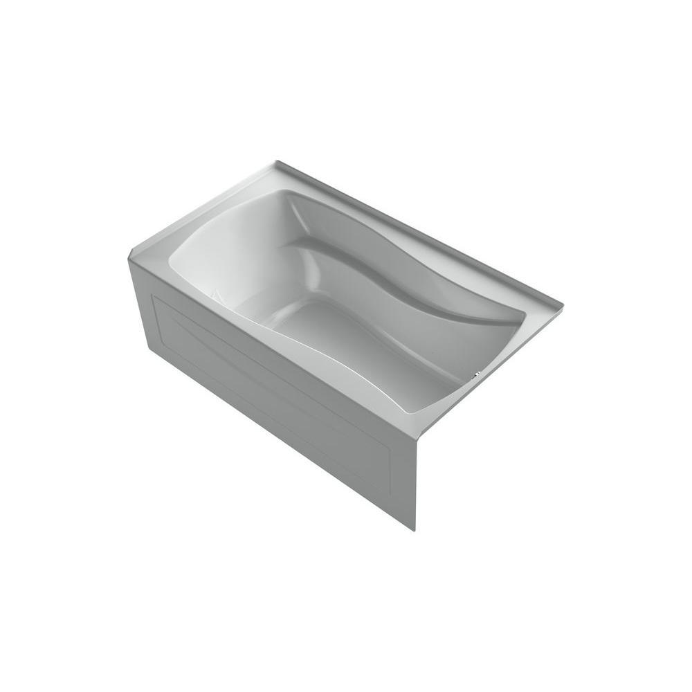 KOHLER Mariposa 5.5 ft. Air Bath Tub in Ice Grey-DISCONTINUED