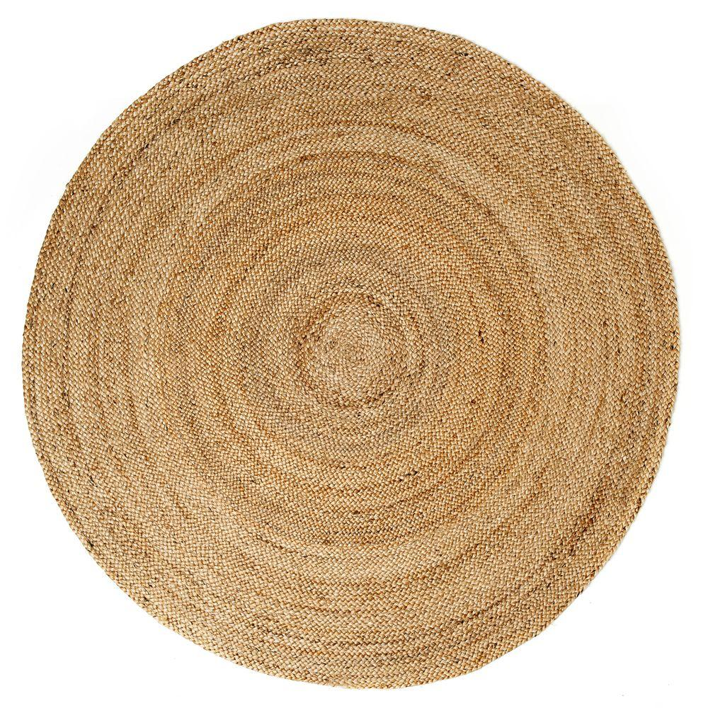 Kerala Natural Brown Jute 6 ft. x 6 ft. Round Area