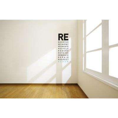 (9 in x 25 in) Renew Wall Decal