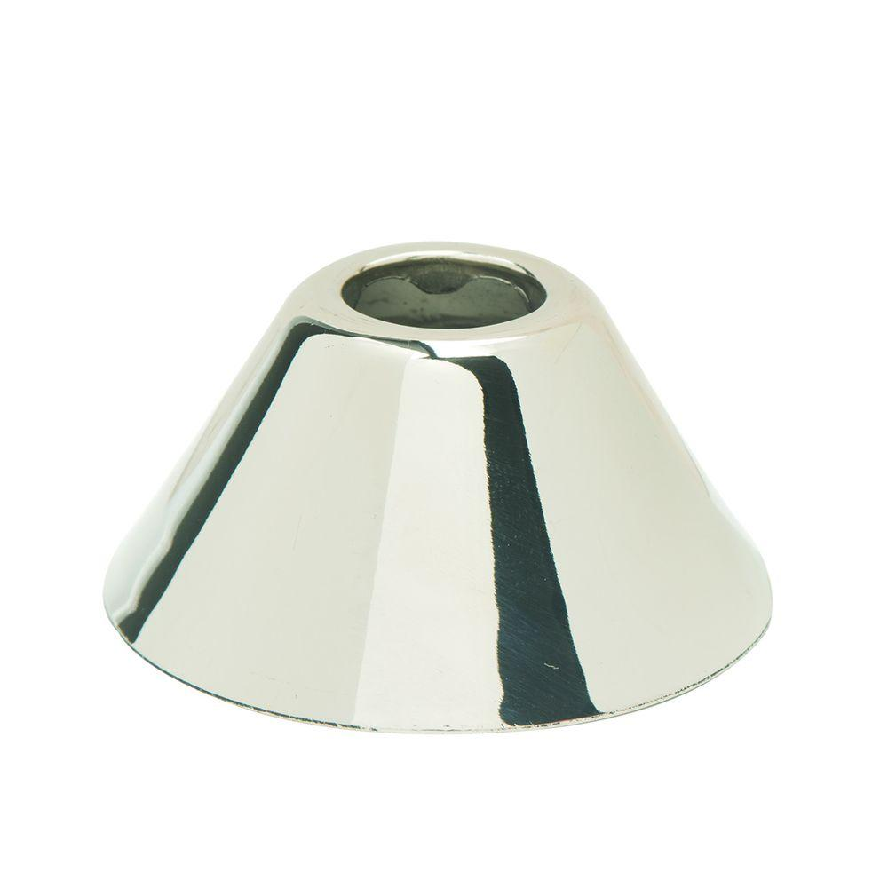11/16 in. O.D. (3/8 in. IPS) Bell Escutcheon in Polished Nickel