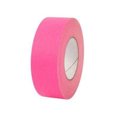 2 in. x 50 yds. Fluorescent Pink Gaffer Industrial Vinyl Cloth Tape (3-Pack)