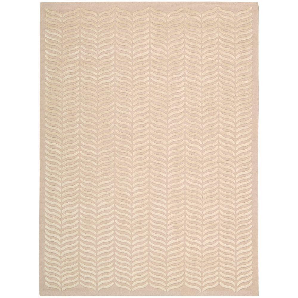 Silken Textures Blush 6 ft. x 8 ft. Area Rug