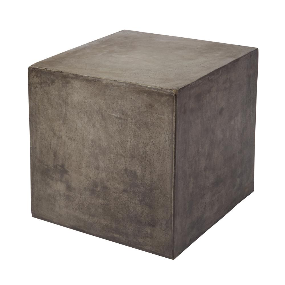 Delicieux Titan Lighting Cubo Concrete Gray Cube Side Table