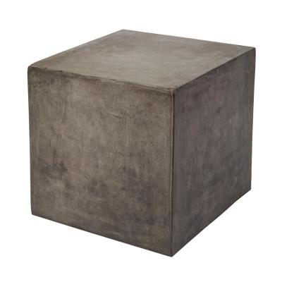 Cubo Concrete Gray Cube Side Table