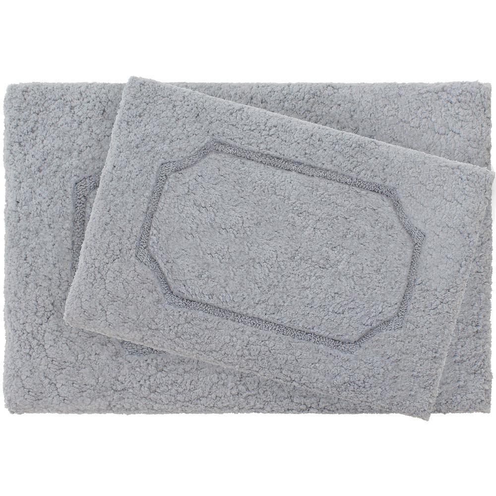Blossom Dark Gray Premium Extra Plush Race Track 2 Piece Bath Rug