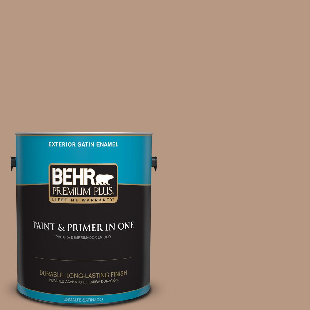 1 gal. #MQ2-41 Cavern Clay Satin Enamel Exterior Paint and Primer