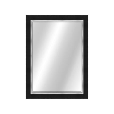 Two Toned 22 x 28 Value Core Black/Silver Framed Vanity Mirror