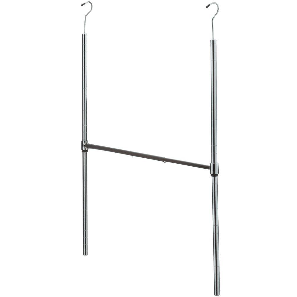 35 in. Chrome Adjustable Hanging Closet Rod