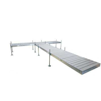 24 ft. L T-Style Aluminum Frame with Decking Complete Dock Package