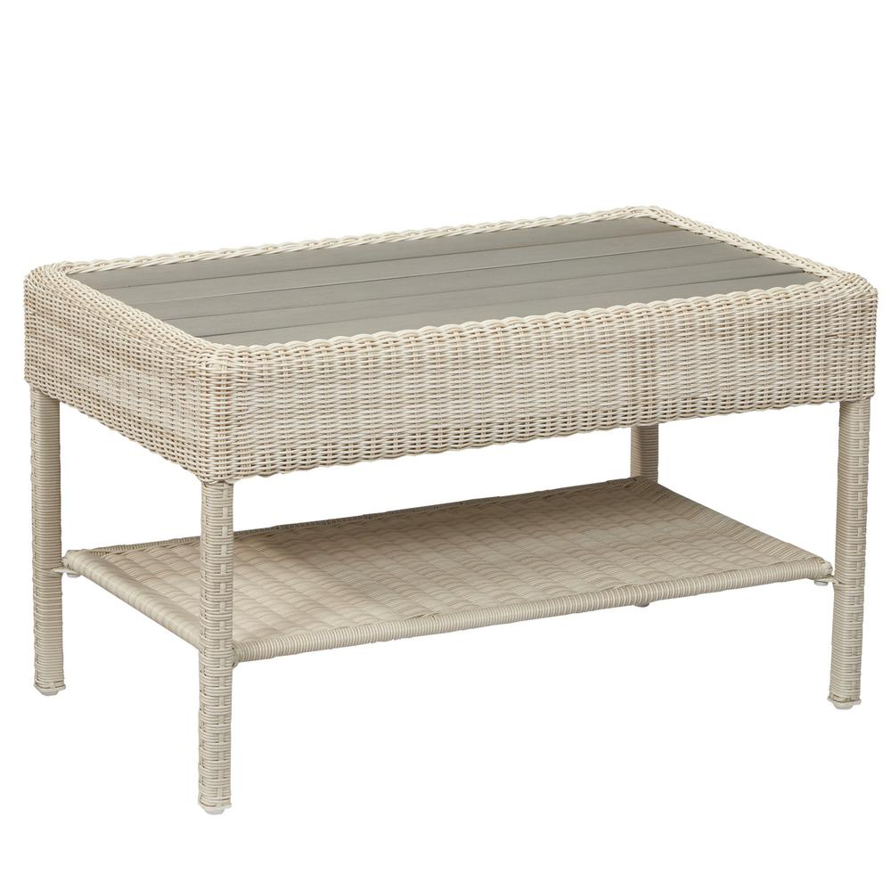 Hampton Bay Belcourt Metal Rectangle Outdoor Coffee Table