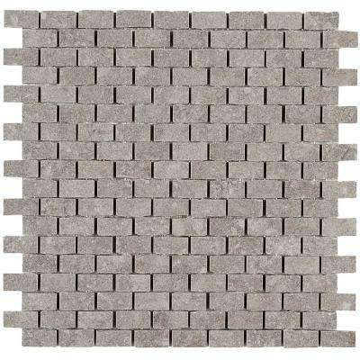 Albany Light Gray Matte 12 in. x 12 in. x 9.5 mm Color Body Porcelain Mosaic Floor and Wall Tile (0.97 sq. ft. / piece)