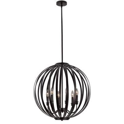 Hugo 6-Light Bronze Pendant
