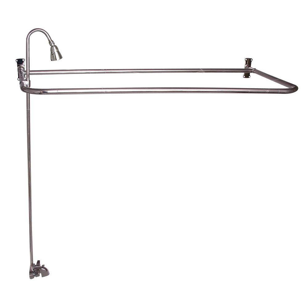 Barclay 2-Handle Claw Foot Tub Faucet with Diverter Riser...