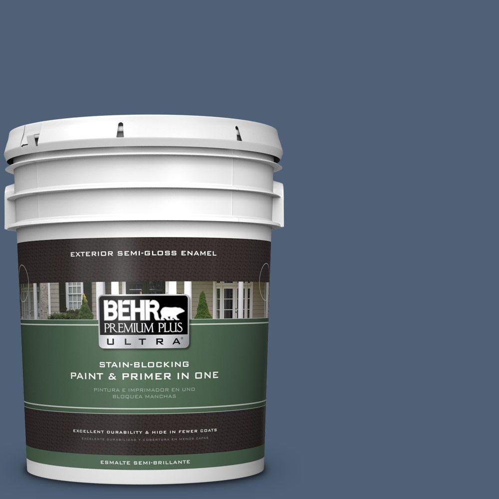 BEHR Premium Plus Ultra 5-gal. #BIC-52 Loyalty Semi-Gloss Enamel Exterior Paint