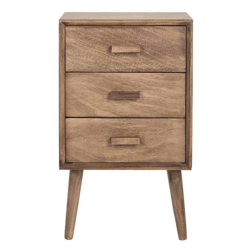 Pomona Desert Brown 3-Drawer End Table