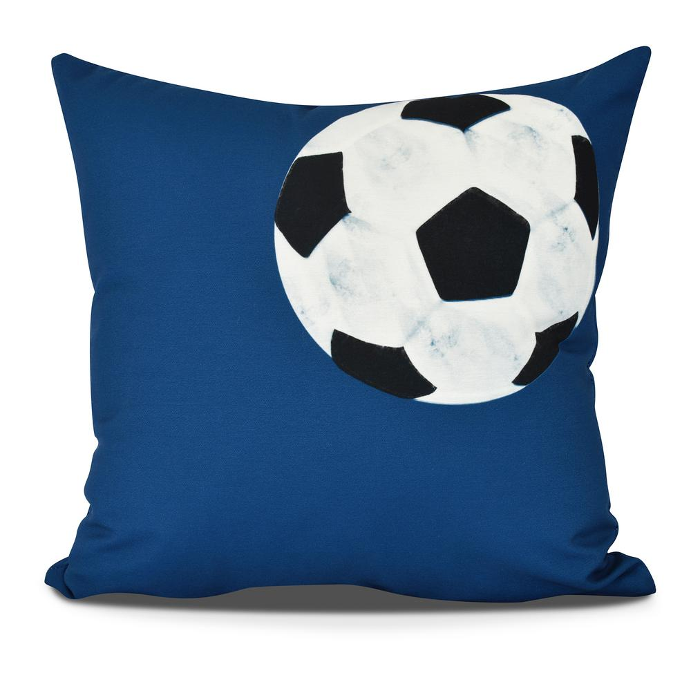 Soccer Ball Geometric Print Decorative Pillow