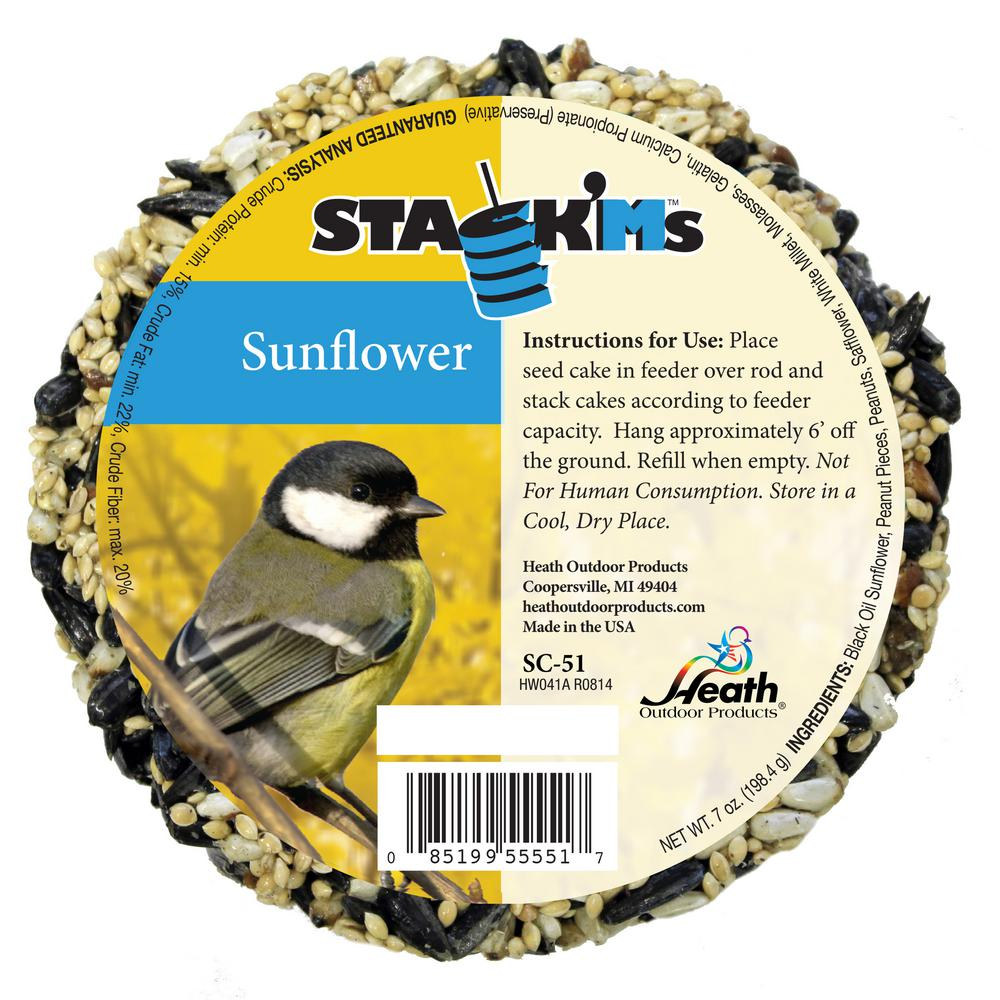 Heath Stack'Ms Seed Cakes - Sunflower (Case of 6)