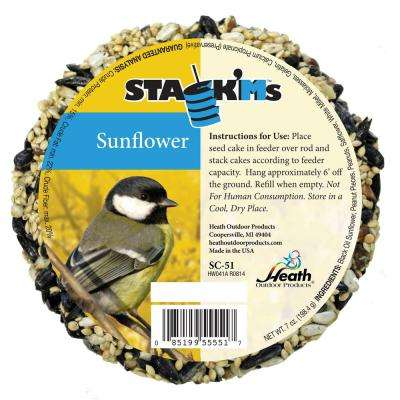 Stack'Ms Seed Cakes - Sunflower (Case of 6)