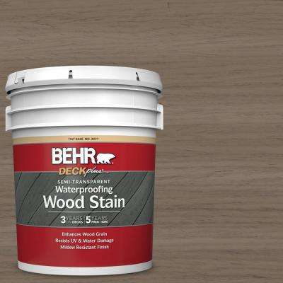 5 gal. #ST-159 Boot Hill Grey Semi-Transparent Waterproofing Exterior Wood Stain