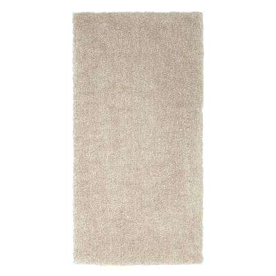 Ethereal Shag Cream Beige 2 ft. x 4 ft. Indoor Scatter Area Rug