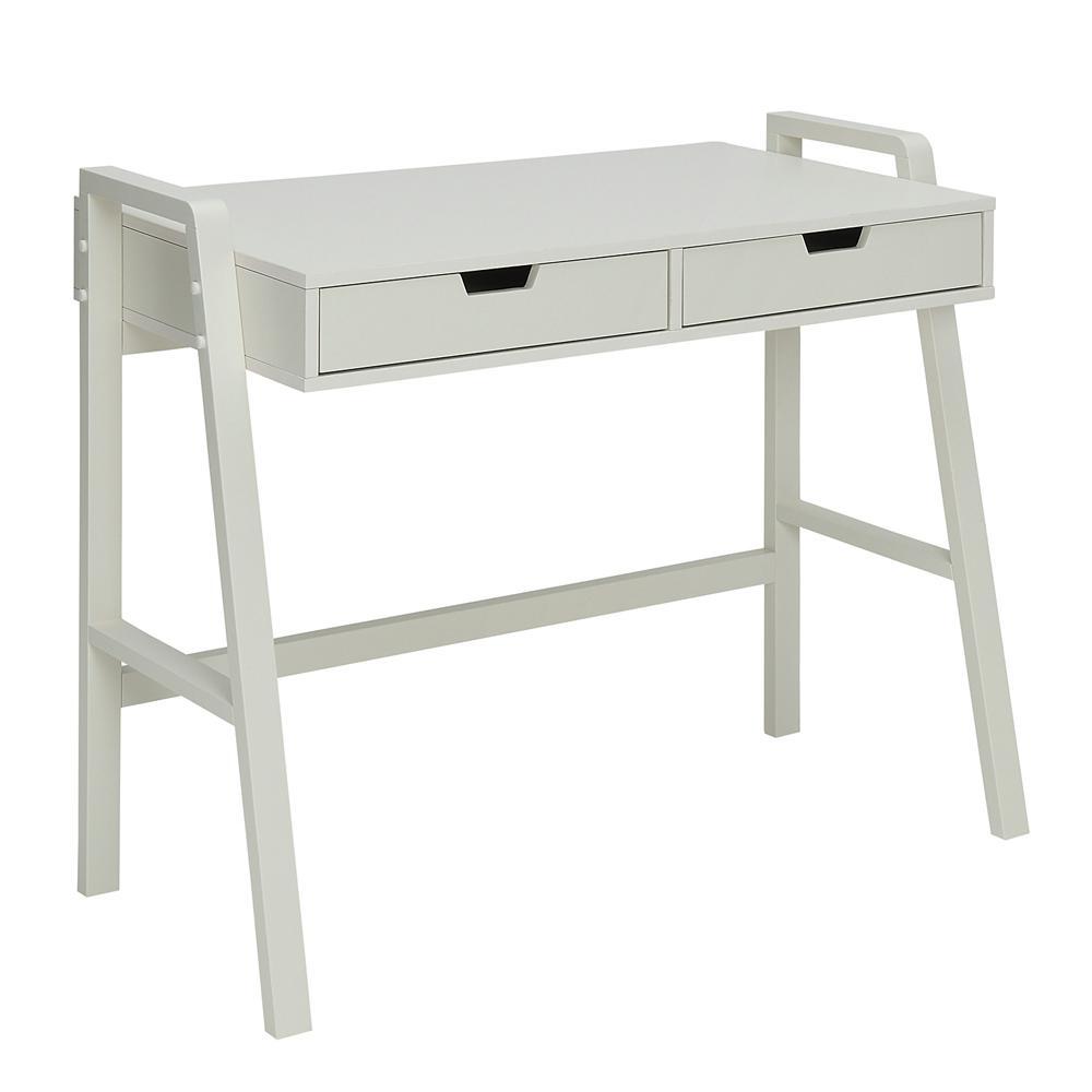 Charles Polar White Small Office Desk