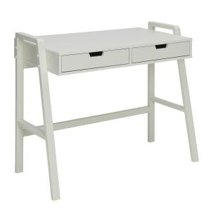 Charles Polar White Small Office Desk by