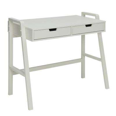 Charles Polar White Small Office Desk