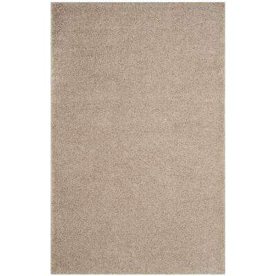 Arizona Shag Light Beige 5 ft. 1 in. x 7 ft. 6 in. Area Rug