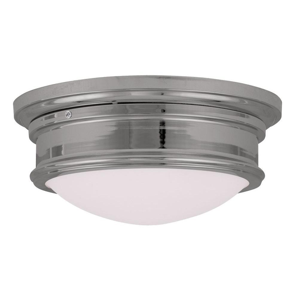 Providence 2-Light Chrome Incandescent Ceiling Flush Mount