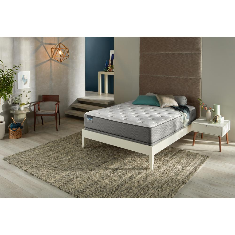 Simmons BeautySleep Oxford Sound Queen Luxury Firm Low Profile Mattress Set