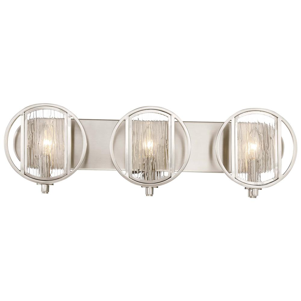 Minka Lavery Via Capri 3-Light Brushed Nickel Bath Light-3063-84 ...