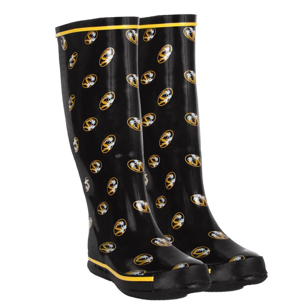 FANSHOES 12 in. Rubber NCAA Missouri Tigers Team Boot Size 7-DISCONTINUED