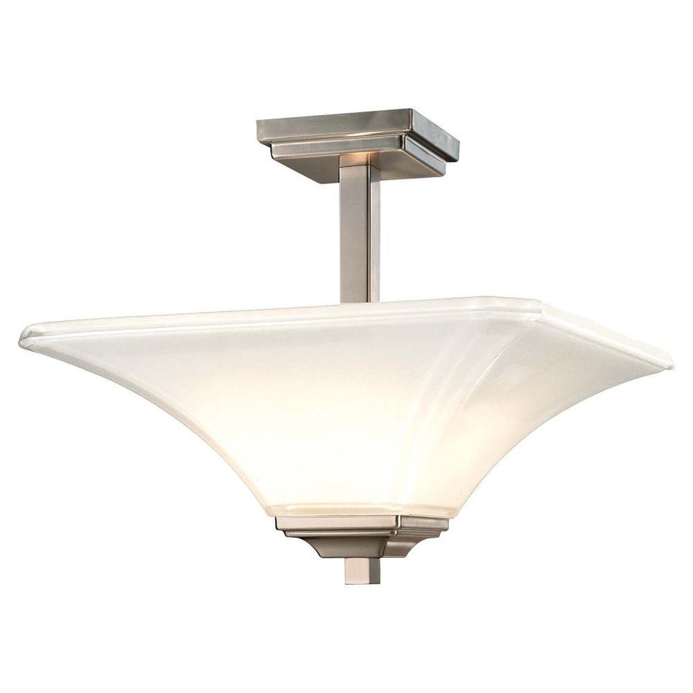 Agilis 2-Light Brushed Nickel Semi-Flush Mount Light