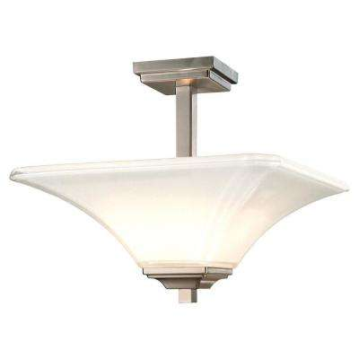 Agilis 2-Light Brushed Nickel Semi-Flush Mount Light