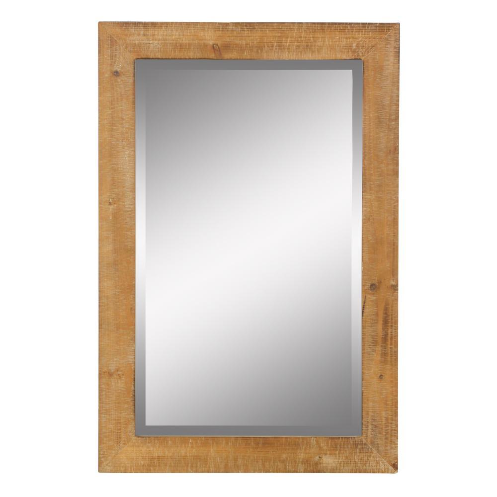 Medium Rectangle Beveled Glass Pueblo Mirror (36 in. H x 24 in. W)