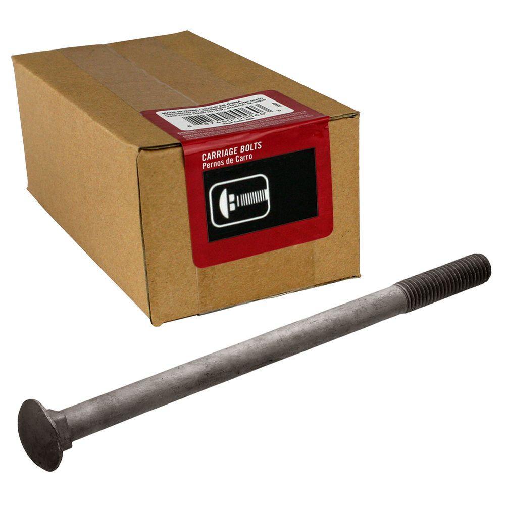 Everbilt 1/2 inch - 13 tpi x 10 inch Galvanized Coarse Thread Carriage Bolt (25-Piece per Box) by Everbilt