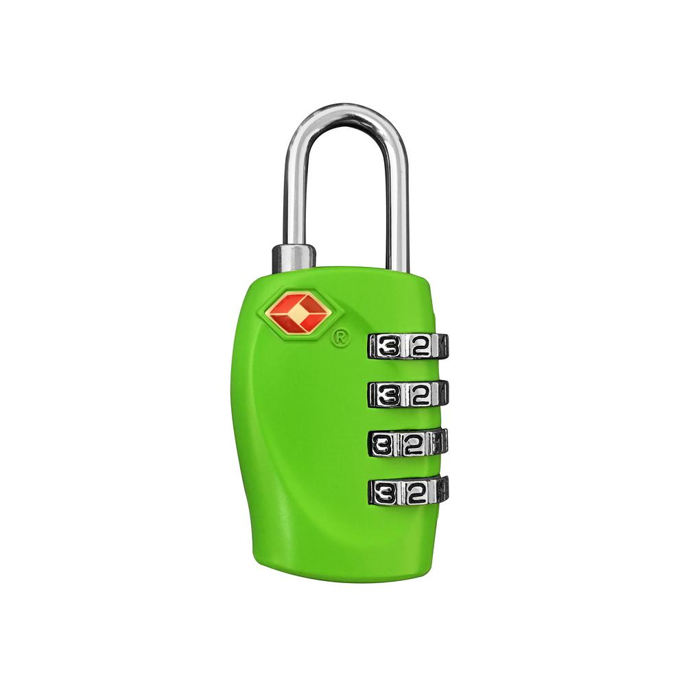 4 Digit Combination Padlock in Green - TSA Approved