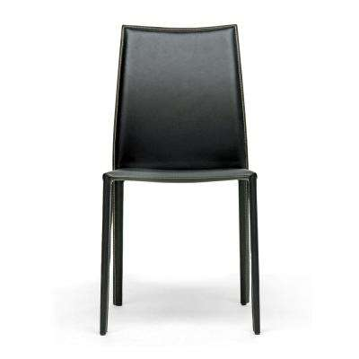 Rockford Black Faux Leather Upholstered Dining Chairs (Set of 2)