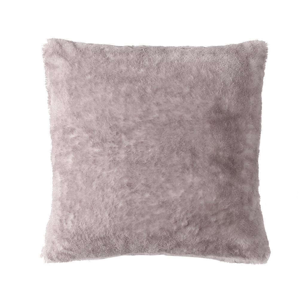 MHF Home Millburn Faux Fur Throw Pillows, Lavender