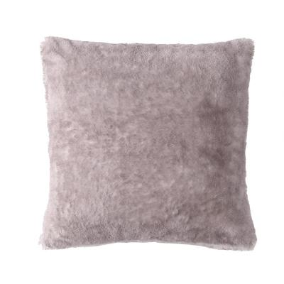 Morgan Home Millburn Faux Fur Lavender Solid Faux Fur Polyester in. x 18 in. Throw Pillow