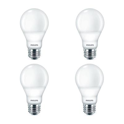 60-Watt Equivalent Daylight A19 Dimmable Energy Saving LED Light Bulb (5000K) (4-Pack)