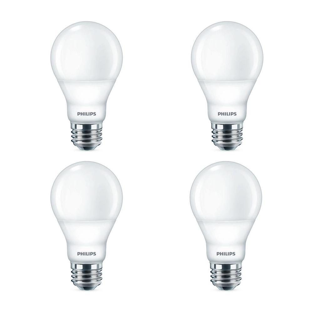 60-Watt Equivalent Daylight A19 Dimmable Energy Saving LED Light Bulb (5000K) (4-Pack)