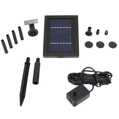 24 in. Lift 40 GPH Solar Pump and Solar Panel Kit with 5 Spray Heads