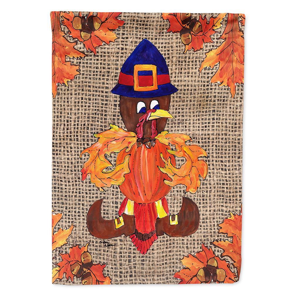 Carolines Treasures Thanksgiving Turkey Pilgrim Fleur De Lis Indoor or Outdoor Doormat Multicolor 18 x 27