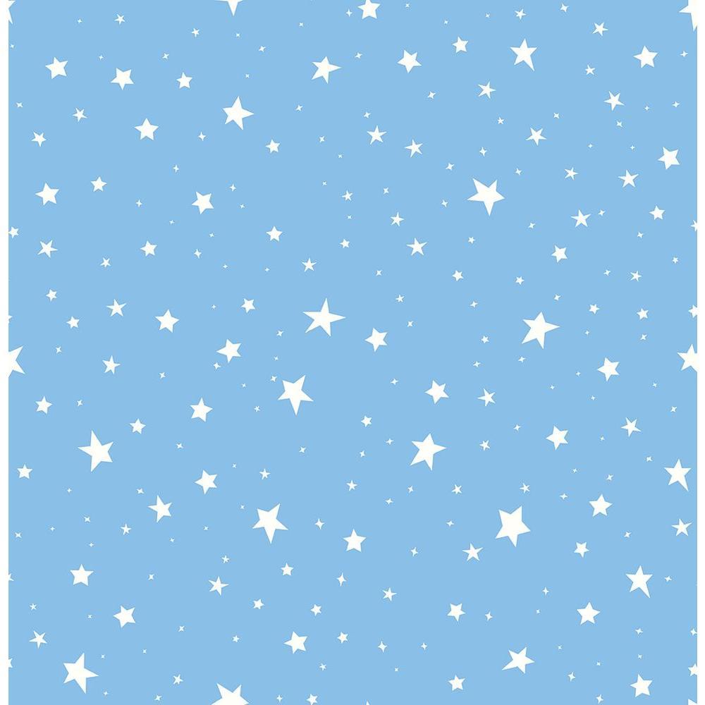 Sky Blue Stars Wallpaper Sample