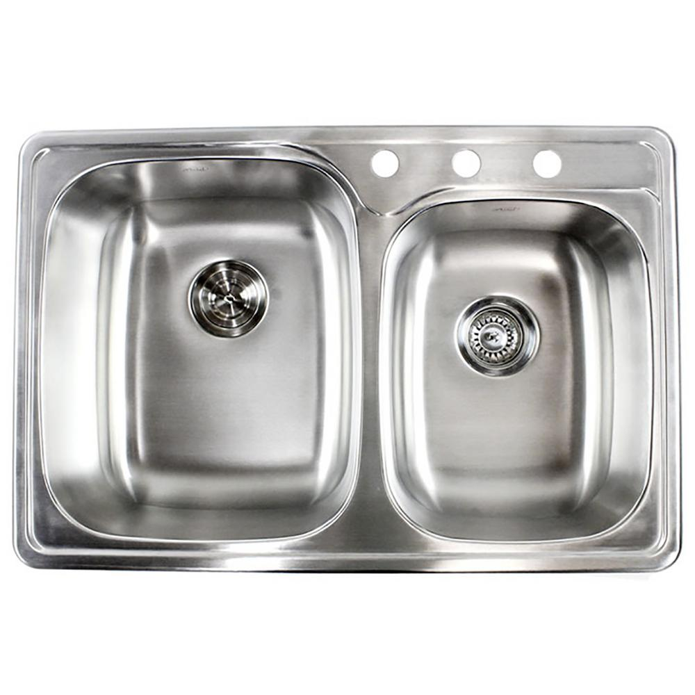 Best Kitchen Sink: EModernDecor Topmount Drop-In 18-Gauge Stainless Steel 33