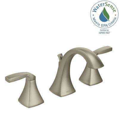 Voss 8 in. Widespread 2-Handle High-Arc Bathroom Faucet Trim Kit in Brushed Nickel (Valve Not Included)