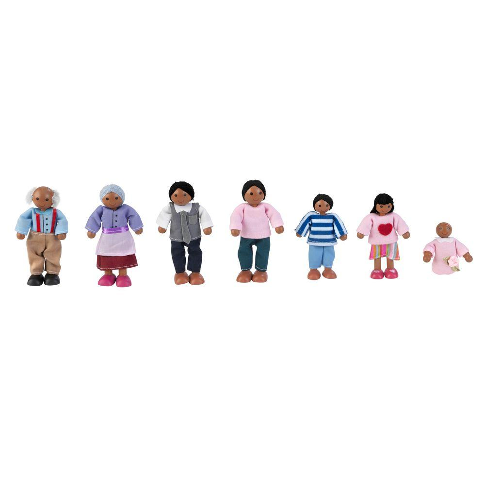 African American Doll Family Play Set