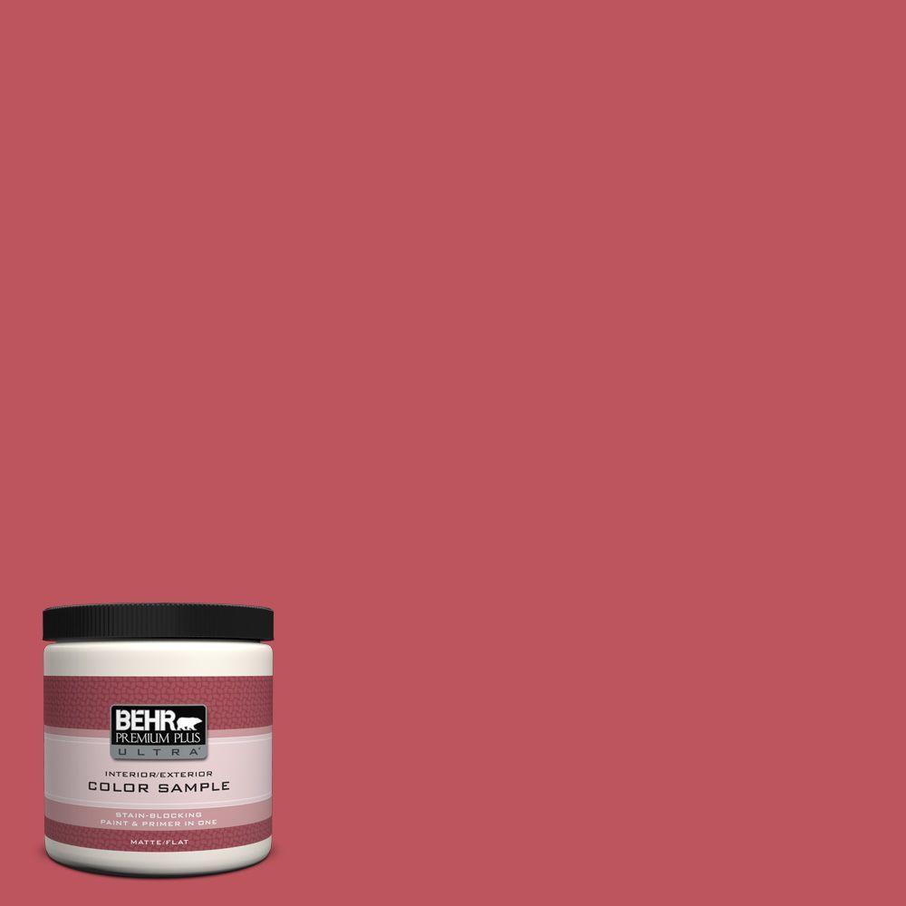 BEHR Premium Plus Ultra 8 oz. #P140-6 Hibiscus Flower Matte Interior ...