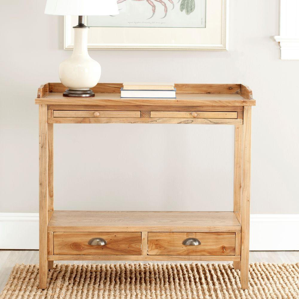 Safavieh Peter Oak (Brown) Storage Console Table